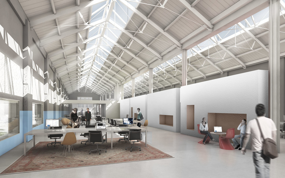 It made possible that the rest of the complex could be used as unprogrammed, flexible space, allowing low-rent work spaces, shops, cafes to be changing regularly.