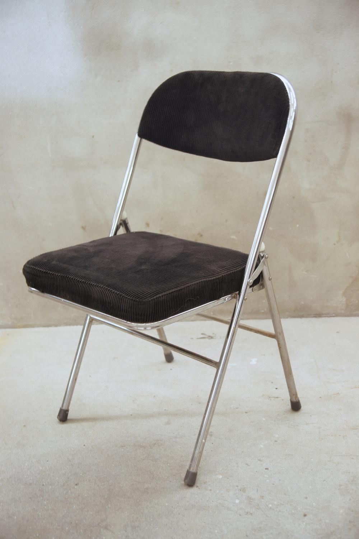 Stoel, klapstoel, zwart/chrome, 4 stuks