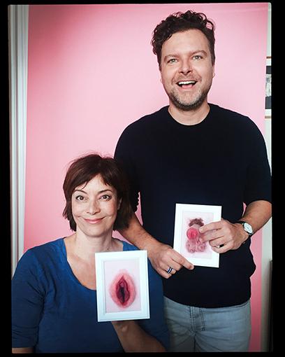 Mit Ann-Marlene Henning und Anschauungsobjekten aus Filz.