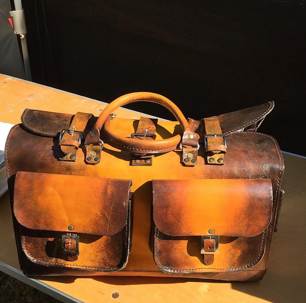 Jidenna's vintage brief case.