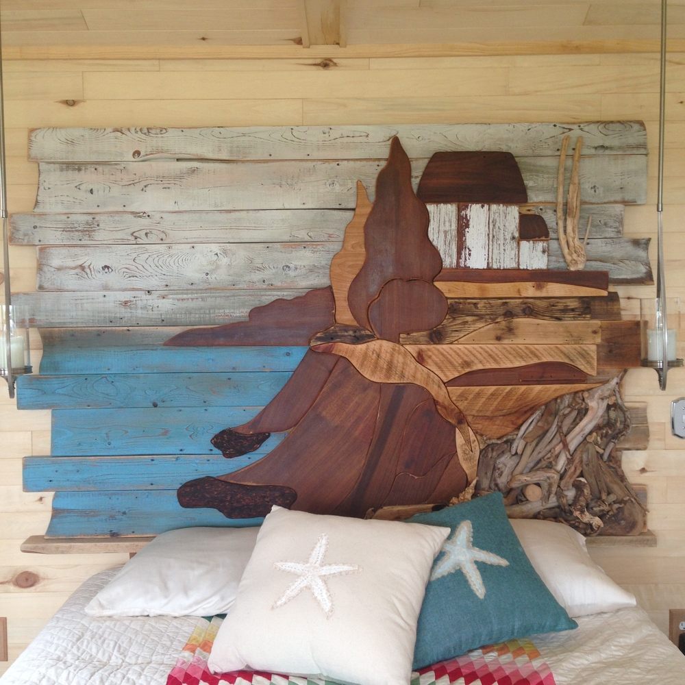 Watercolour Headboard