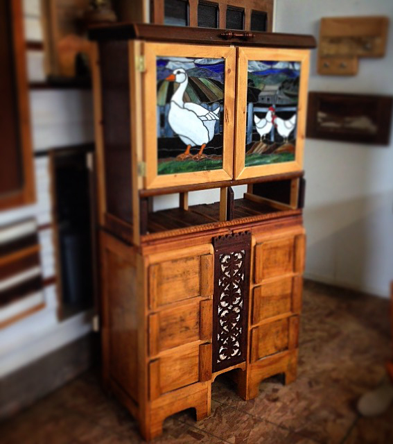 Custom Knitting Cabinet