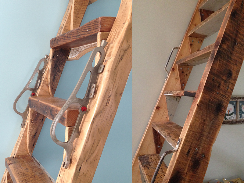 We made not one, but two loft ladders for separate, and equally lovely, clients.