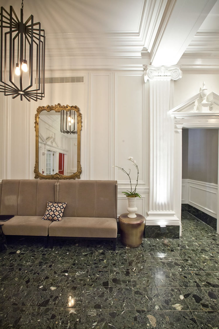 Interior at The Touraine Apartments for rent in Rittenhouse Square