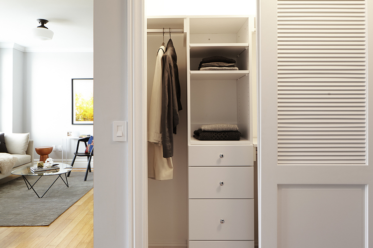 Closet at The Touraine Apartments for rent in Rittenhouse Square