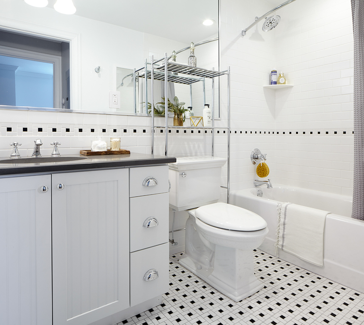 Bathroom at The Touraine Apartments for rent in Rittenhouse Square