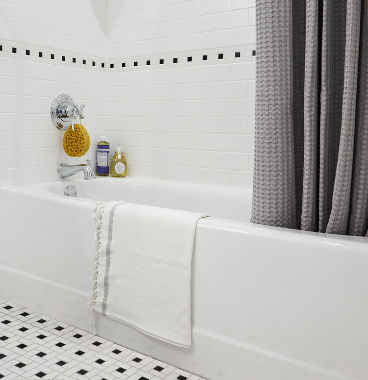 Bathtub at The Touraine Apartments for rent in Rittenhouse Square