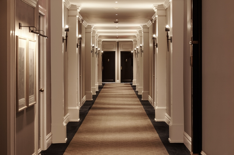 Hallway at The Touraine Apartments in Rittenhouse Square Philadelphia