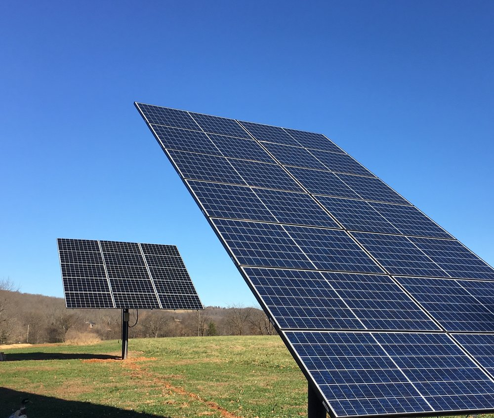 MT solar top of pole mounts are easy to adjust seasonally from the ground using a provided hand crank.