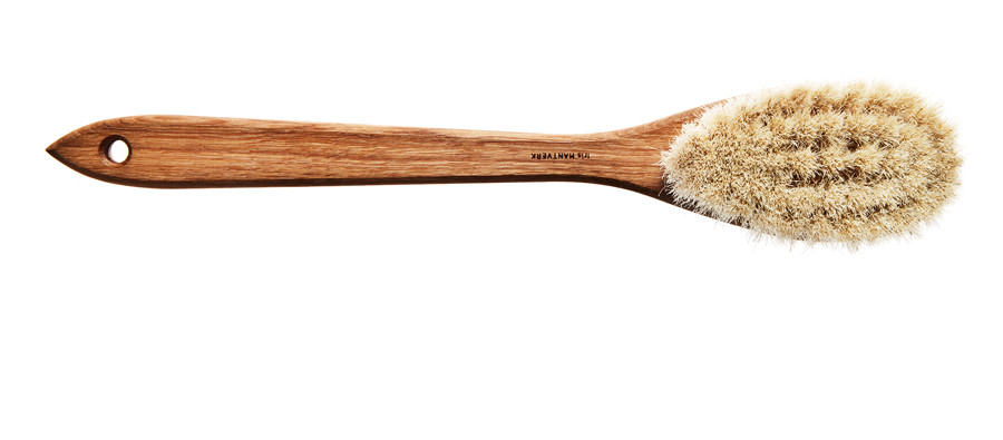 Kaufmann Mercantile - Handmade Swedish Horsehair Bath Brush $58