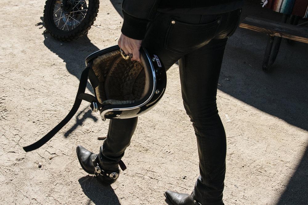 MOTORCYCLE DESERT AND DENIM