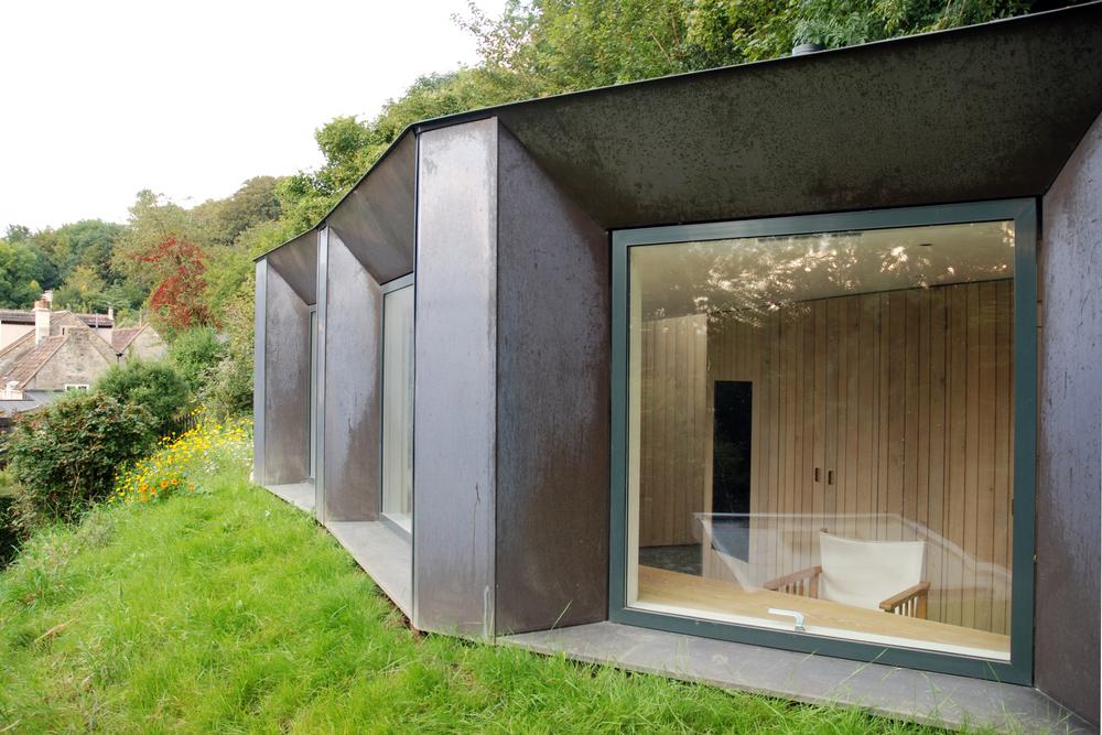 Myrtle cottage garden studio riba national award 2015 for Wooden studios for gardens