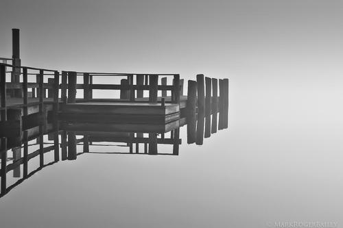 Essex Dock in September Fog  by Mark Roger Bailey