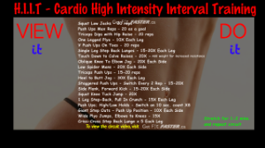 View It & Do It HIIT circuit.