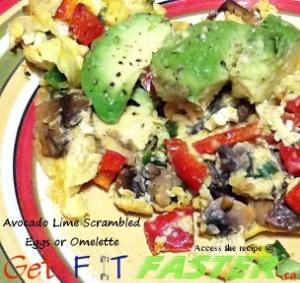 Avocado Lime Scrambled Eggs