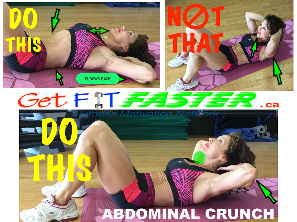 Do This Not That - Ab Crunch getfitfaster.ca susan arruda