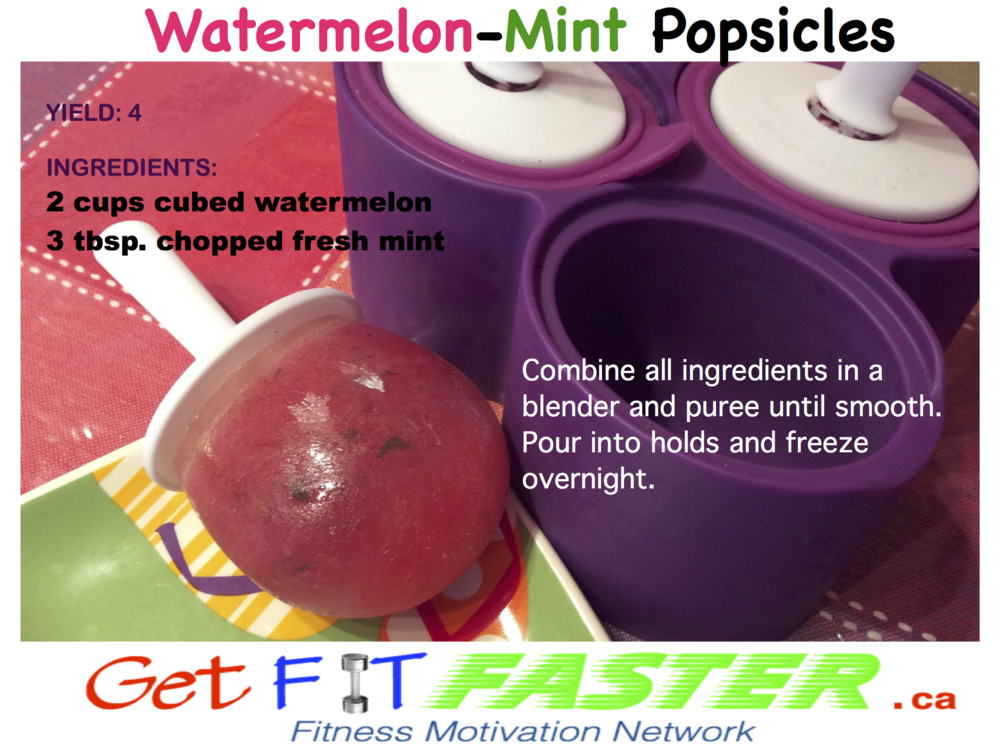 Watermelon Mint Popsicles