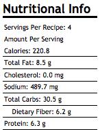 Susan Arruda Chick-a-Boom+Chick+Pea+Salad nutrition