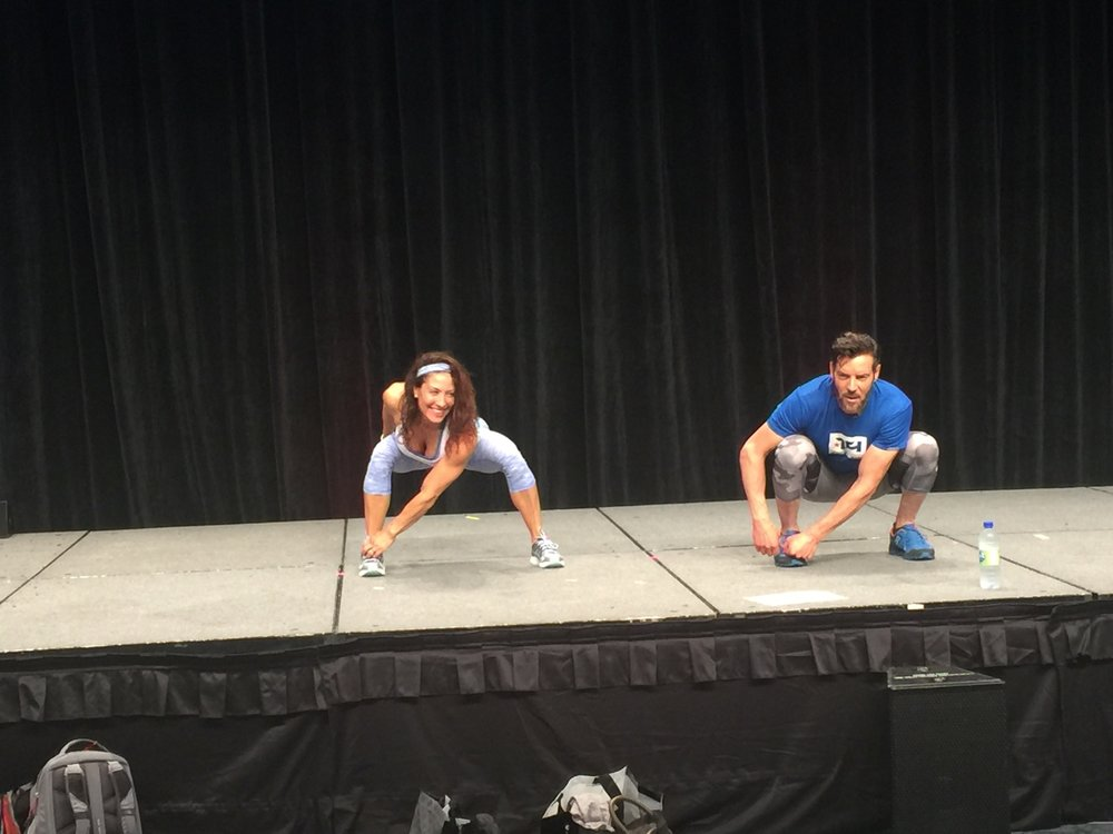 On stage with Tony Horton! What an honour!