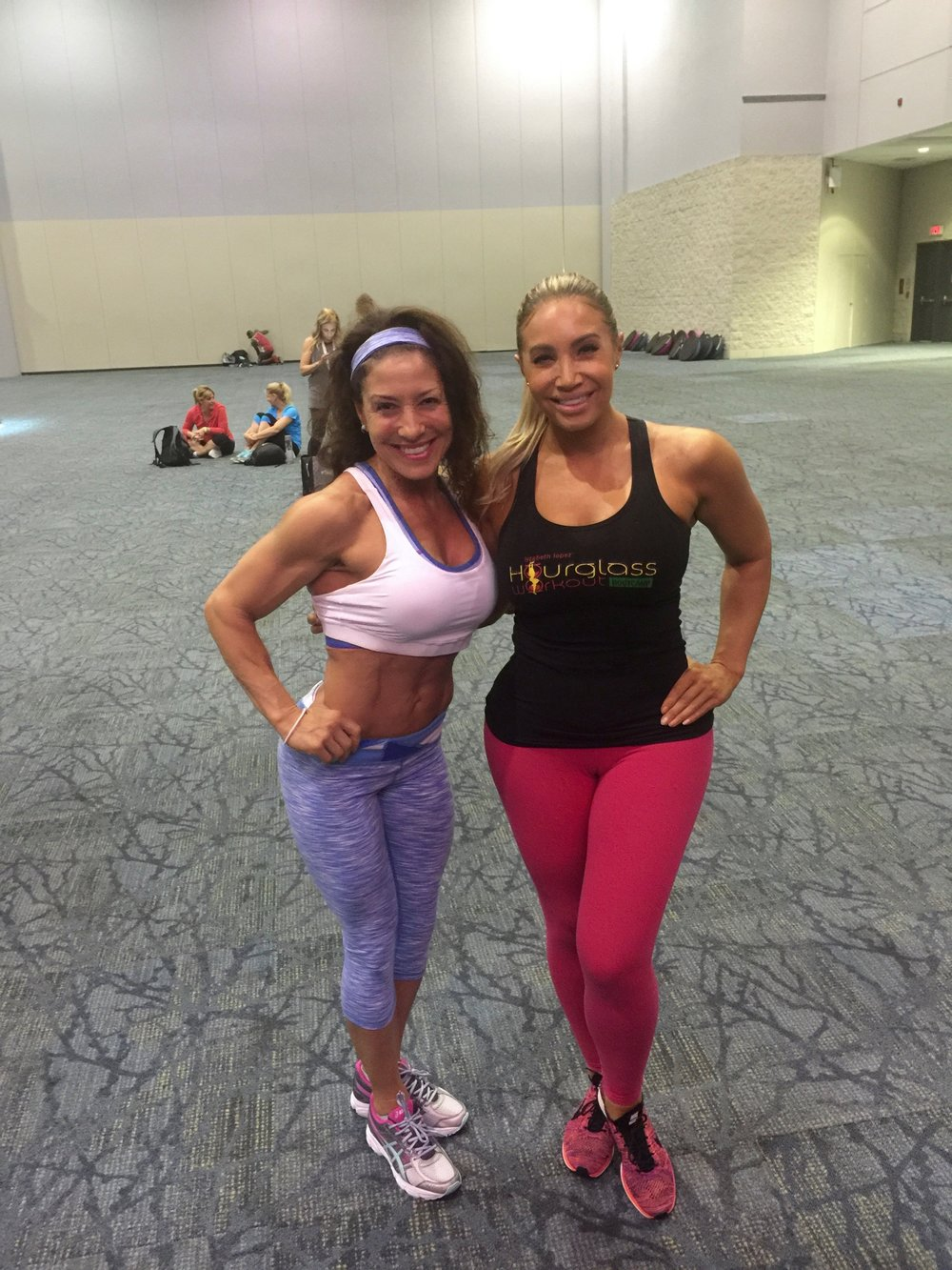 With Friend and Fitness Icon Lyzabeth Lopez
