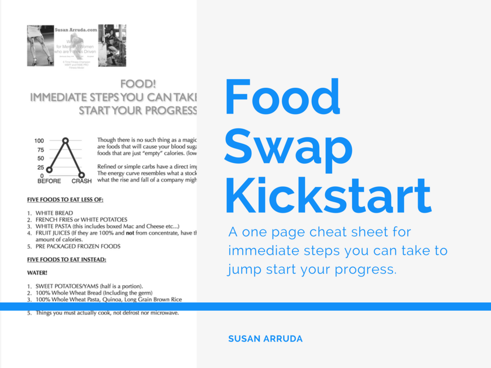 FOOD SWAP KICKSTART - Immediate steps and swaps you can take to kickstart your progress. PDF download