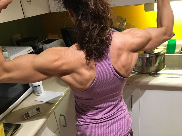 """Just after my 50th birthday, my husband comes into the kitchen and says; """"do me a fave babe? Just do a rear double bi's for me?"""" Next, I hear the click of the iPhone camera, followed by a few muttered words that included """"sick."""" Then I hear, MAYBE you should compete again?⠀ ⠀ My roundhouse kick is a little rusty, but I knew he was in range lol You see, I decided nearly 10 years ago to NEVER go there again, but I have also learned to never say never. ⠀ ⠀ Then today at my RMT, he says outta nowhere - so, are you gonna compete this year?⠀ ⠀ I love fitness, I am not an avid fan of the whole competing scene. But, hmmm. Any thoughts?⠀ ⠀ #ripped⠀ #fitmom⠀ #fitmoms⠀ #fitness ⠀ #fitnessmotivation ⠀ #iamsusanarruda⠀ #seriouslysexyabs⠀ #abs⠀ #abtraining⠀ #lowerabs⠀ #strongwomen⠀ #inspiration ⠀ #healthy ⠀ #instafitness ⠀ #diet ⠀ #strong ⠀ #figure ⠀ #hardbody ⠀ #determination ⠀ #lifestyle ⠀ #coretraining⠀ #fitwomen⠀ #fit_moms_of_ig⠀ #crunch⠀ #plank⠀ #fatloss⠀ #goals⠀ #weightloss⠀ #weightlossjourney"""