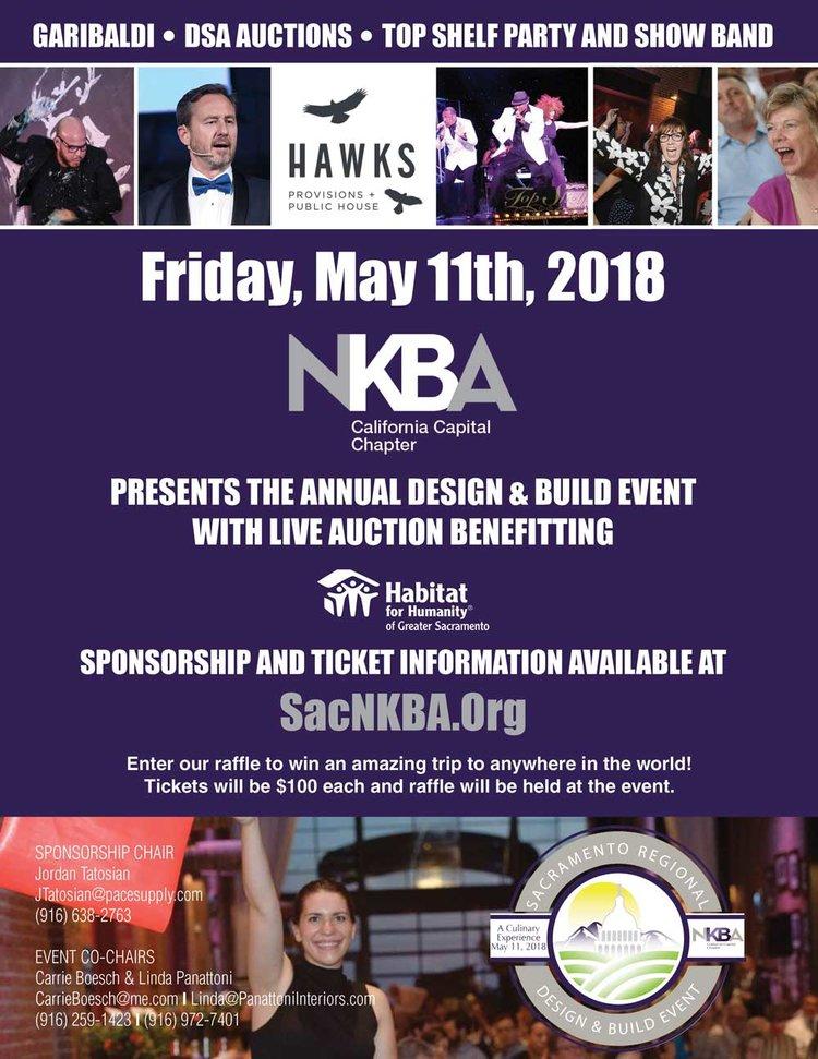 Save the Date: 2018 Sacramento Regional Design Build Event — NKBA CA  CAPITAL CHAPTER
