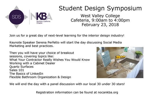 Student Design Symposium Nkba Ca Capital Chapter