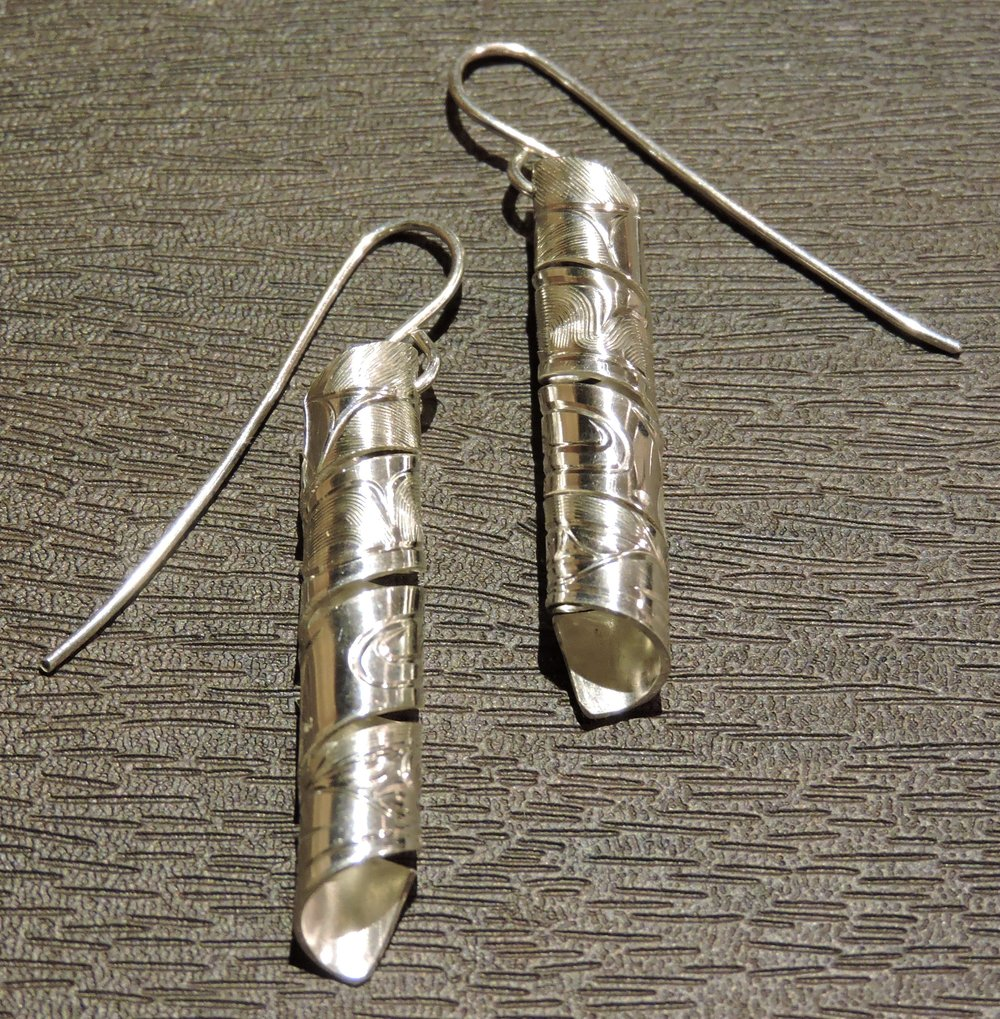 Silver Drop Earrings by Gregory Williams