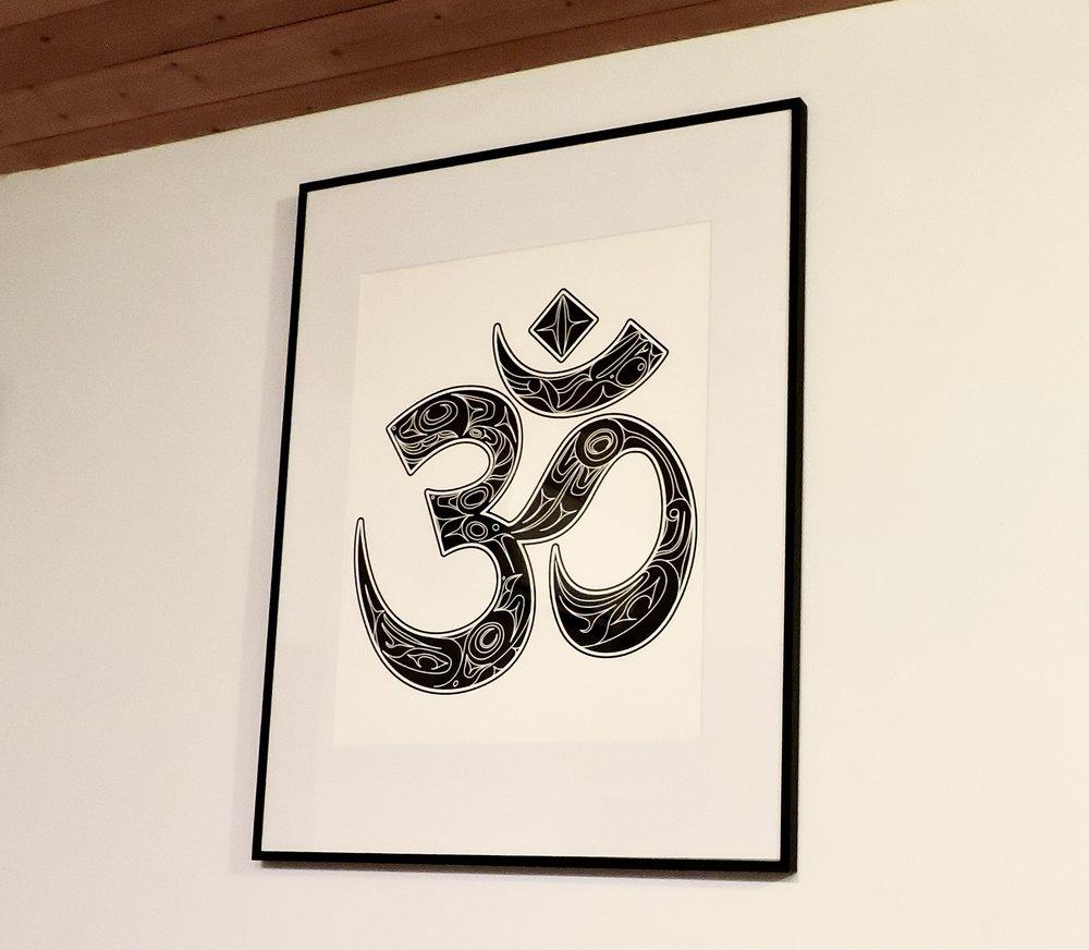 The Haida Gwaii OM Fine Art Print is lovely framed!