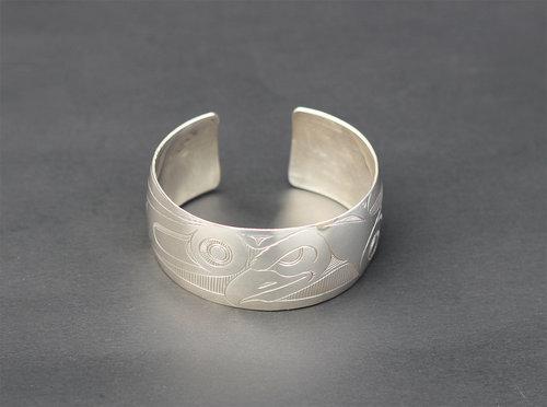 Haida Eagle Silver Bracelet:  http://www.crystalcabingallery.com/shop/haida-jewellery/haida-eagle-silver-bracelet