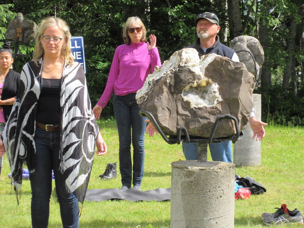 The event kicked-off with a morning meditation in the Tlell Stone Circle led by Firyal Mohamed.