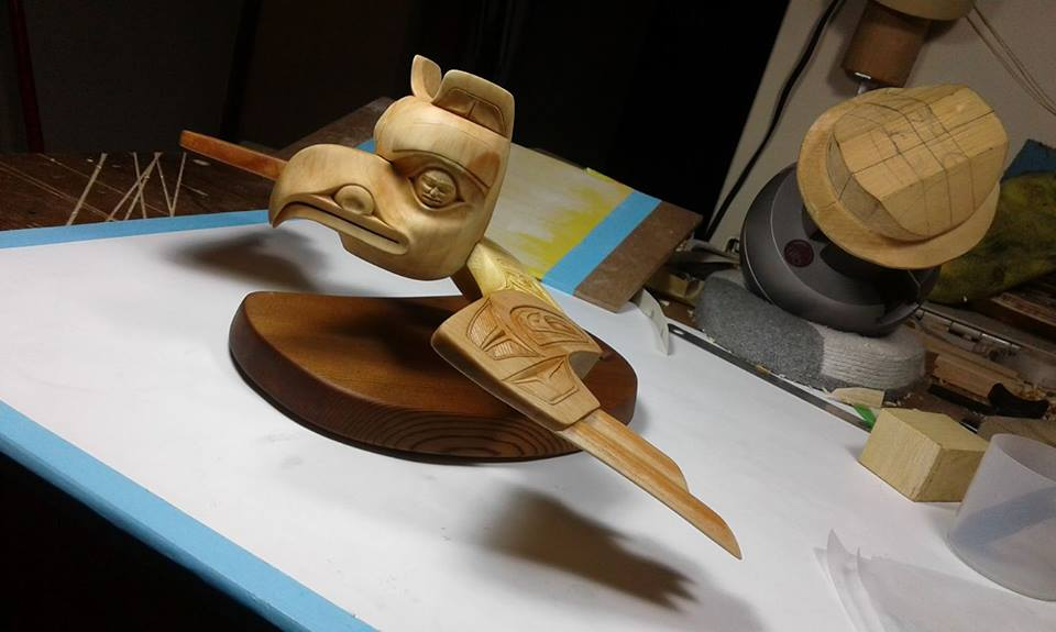 Eagle's Flight of Yellow Cedar, Red Cedar and Alderby Haida & Nisga'a Artist: Steve L. Hansen