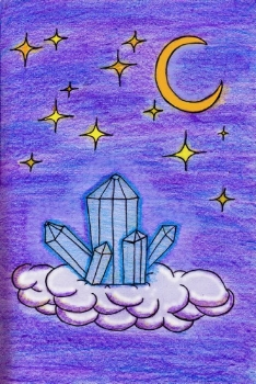 Crystal Cabin Under the Moon