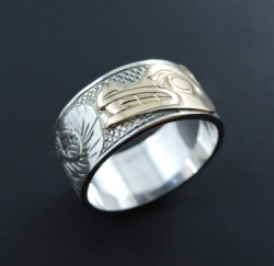 Gold on Silver Wasco Ring