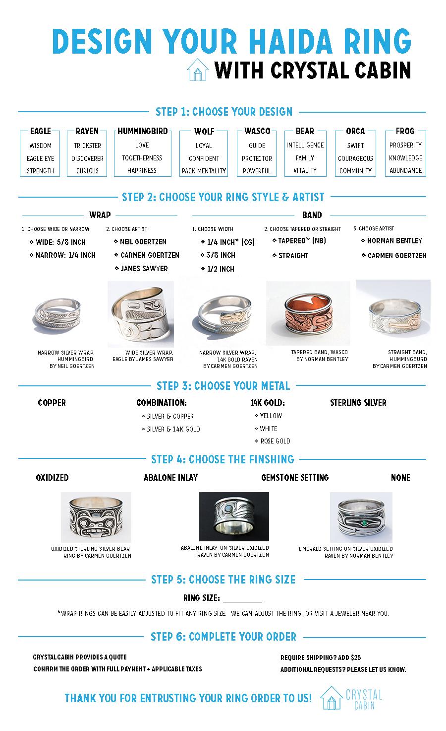 Design your haida ring