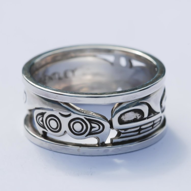 Killer Whale Sterling Silver Ring