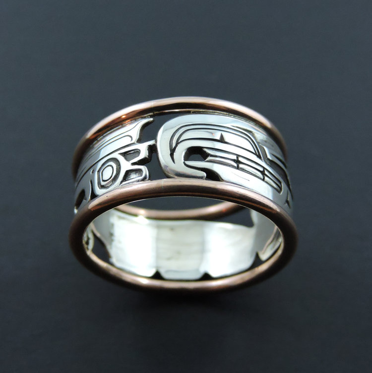 Thunderbird Sterling Silver & Copper Ring