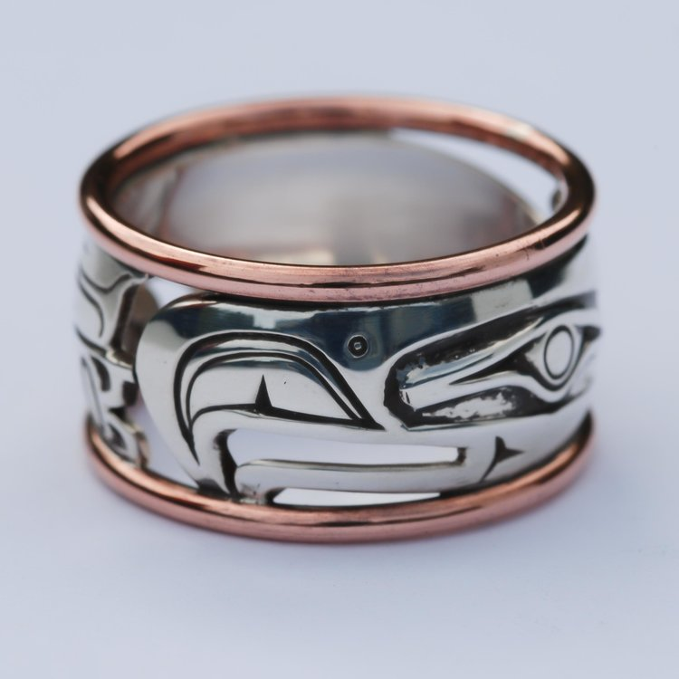 Eagle Copper & Sterling Silver Ring