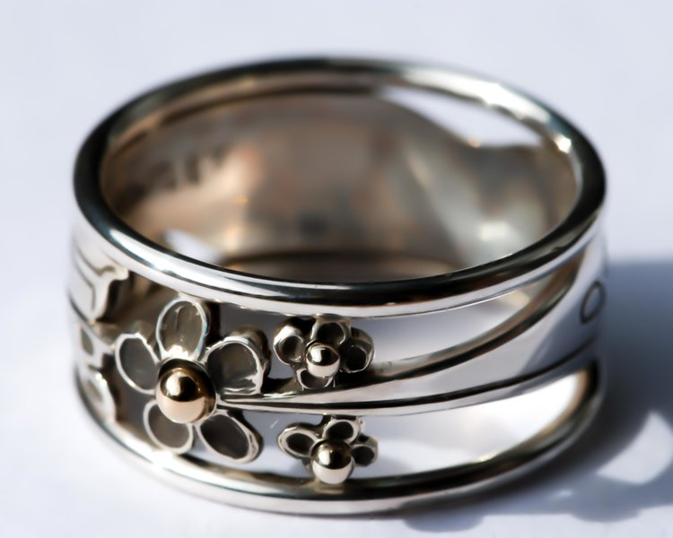 Hummingbird Silver Ring