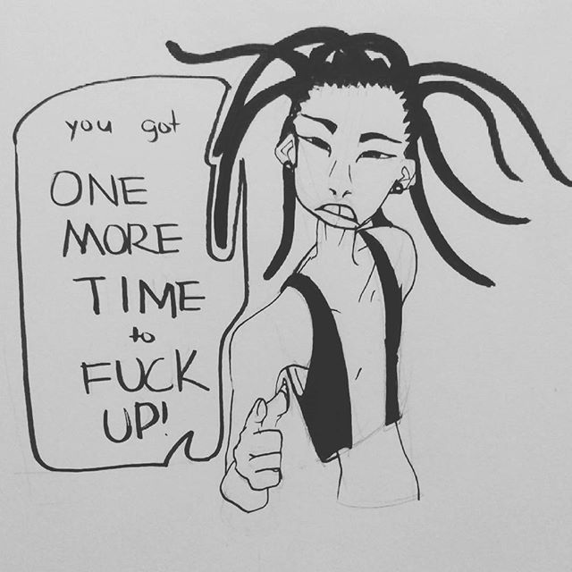 Basically my subconscious talking to me.  #art #dailypost #dailydrawing #sketch #sketchbook #comic #blackandwhite #artistsoninstagram #artistsontumblr
