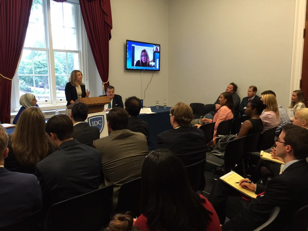 "June 5 2015: Kristina briefs Hill staffers in D.C. on ""How Christianity Will Survive in Iraq: Prospects for a Political Solution."" The event was co-hosted by International Christian Concern, In Defense of Christians, and included support from Iraqi and Kurdistan religious freedom and government groups."