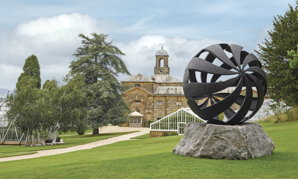 CHARLES HADCOCK SCULPTURES FOLUIM AND HEXAD III SELECTED FOR SOTHEBY'S BEYOND LIMITS AT CHATSWORTH HOUSE   June 2016