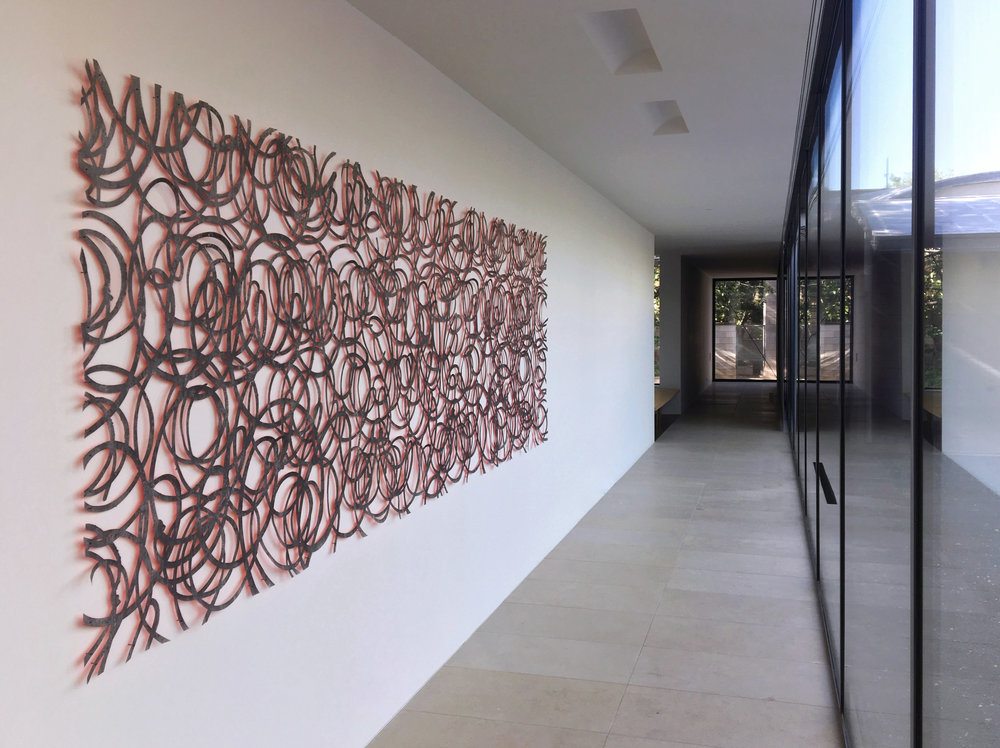 A SIGNIFICANT PAPER CUT OUT BY ADAM BALL HAS BEEN INSTALLED IN AN IMPORTANT PRIVATE COLLECTION IN US.   FEATURE IN PATRON MAGAZINE   June 2018