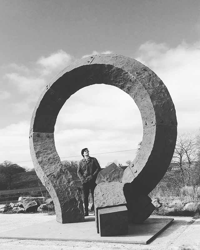 Great visit with @charleshadcocksculptor seeing some monumental sculptures in progress at his amazing studio. #charleshadcock #encountercontemporary #monumentalsculpture #curation #sculpturepark #collecting