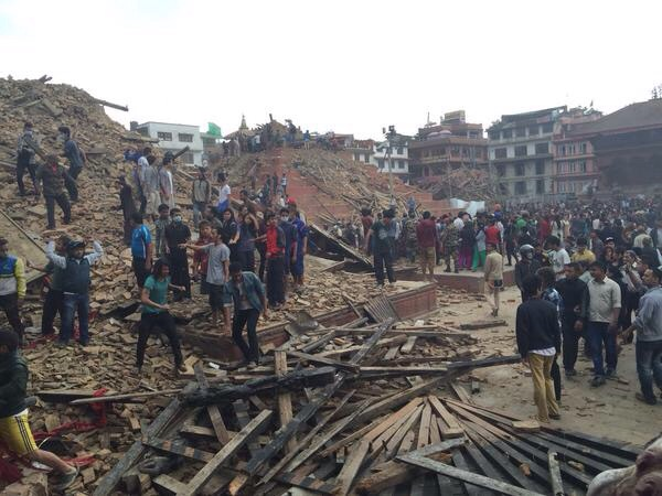 Durbar Square in central Kathmandu    https://twitter.com/bjpsudhanrss/status/591879677574139904
