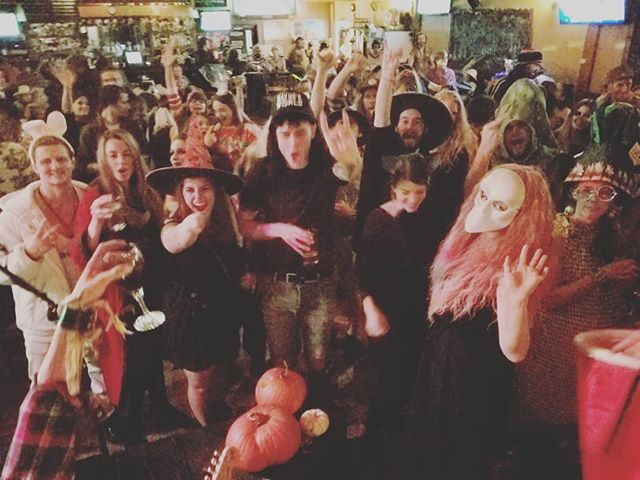 Whoa... thank you @howesoundbrewing for the insane dance party. #squamish packed that place. Stay spooky kiddos.