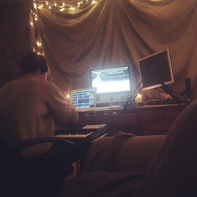Sound design. Getting some juicy new tones up in herrr. #sounddesign #massive #studio #vancity #ableton #computers #nerds