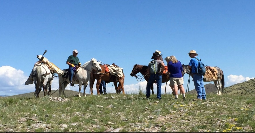 Dan Downey, Provided Horseback riders are pictured on a trail near the new land purchased Wednesday by the Beaverhead Trials Coalition to expand the network of trails in the foothills west od Dillon. A celebration begins at 3 p.m., Saturday at the Ten Mile Road trailhead and will continue at the Beaverhead Brewing with music provided.