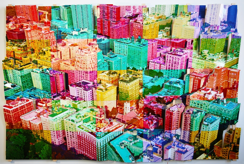 Image: Isidro Blasco,Aerial New York 6, c-print, museum board, wood, 2011 /©Isidro Blasco